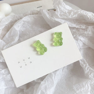 1 Pair Cartoon Gummy Bear Earrings