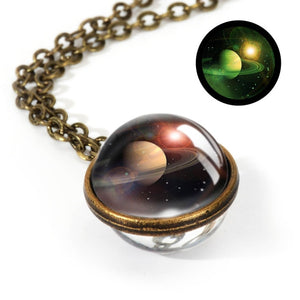 Galaxy Double Sided Pendant Necklace