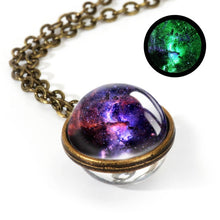 Load image into Gallery viewer, Galaxy Double Sided Pendant Necklace