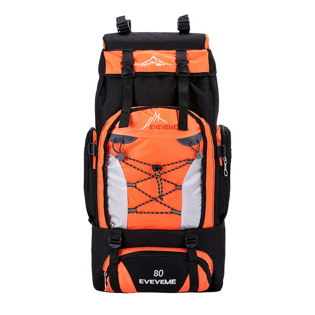 80L Capacity Waterproof Travel Backpack Hiking Camping Rucksack Trekking Luggage Bag Sport Travel