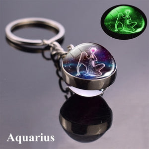 12 constellation key chains
