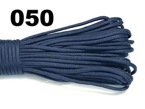 7 Colors 25/50/100/FT Paracord 550 Parachute Cord Lanyard Rope Mil Spec Type III 7 Strand Climbing Camping Survival Equipment