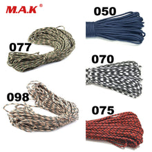 Load image into Gallery viewer, 7 Colors 25/50/100/FT Paracord 550 Parachute Cord Lanyard Rope Mil Spec Type III 7 Strand Climbing Camping Survival Equipment