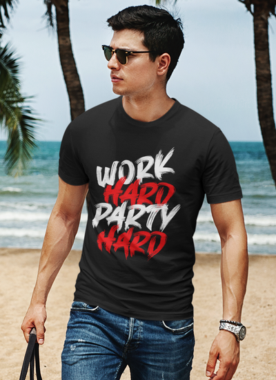Work Hard Party Hard Regular Fit T-Shirt