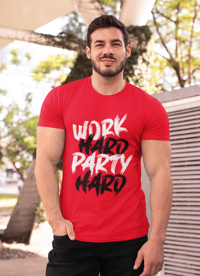 Work Hard Party Hard Muscle Fit T-Shirt