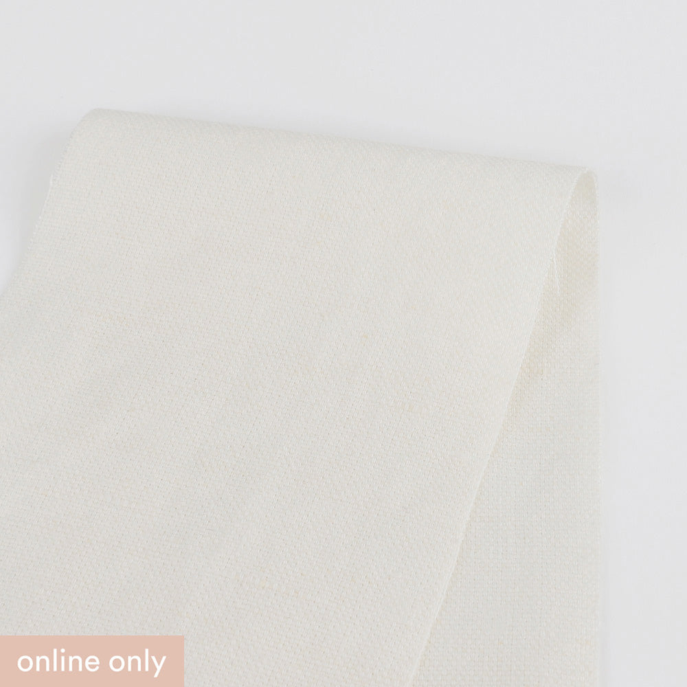 Tumbled Linen Canvas - Light Cream