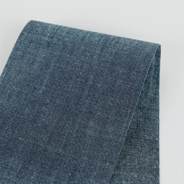8oz Cotton Chambray - Dark Blue - buy online at The Fabric Store