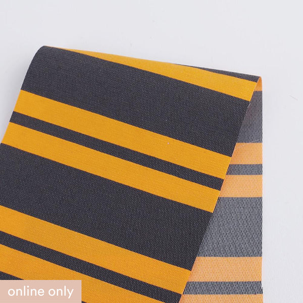 Awning Stripe Cotton / Poly - Orange / Grey