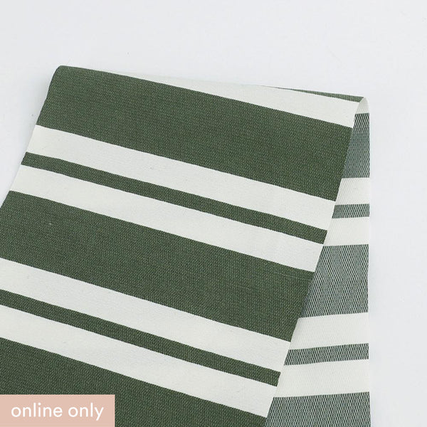 Awning Stripe Cotton / Poly - White / Green