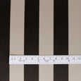 Bonded Candy Stripe Satin - Chocolate / Praline