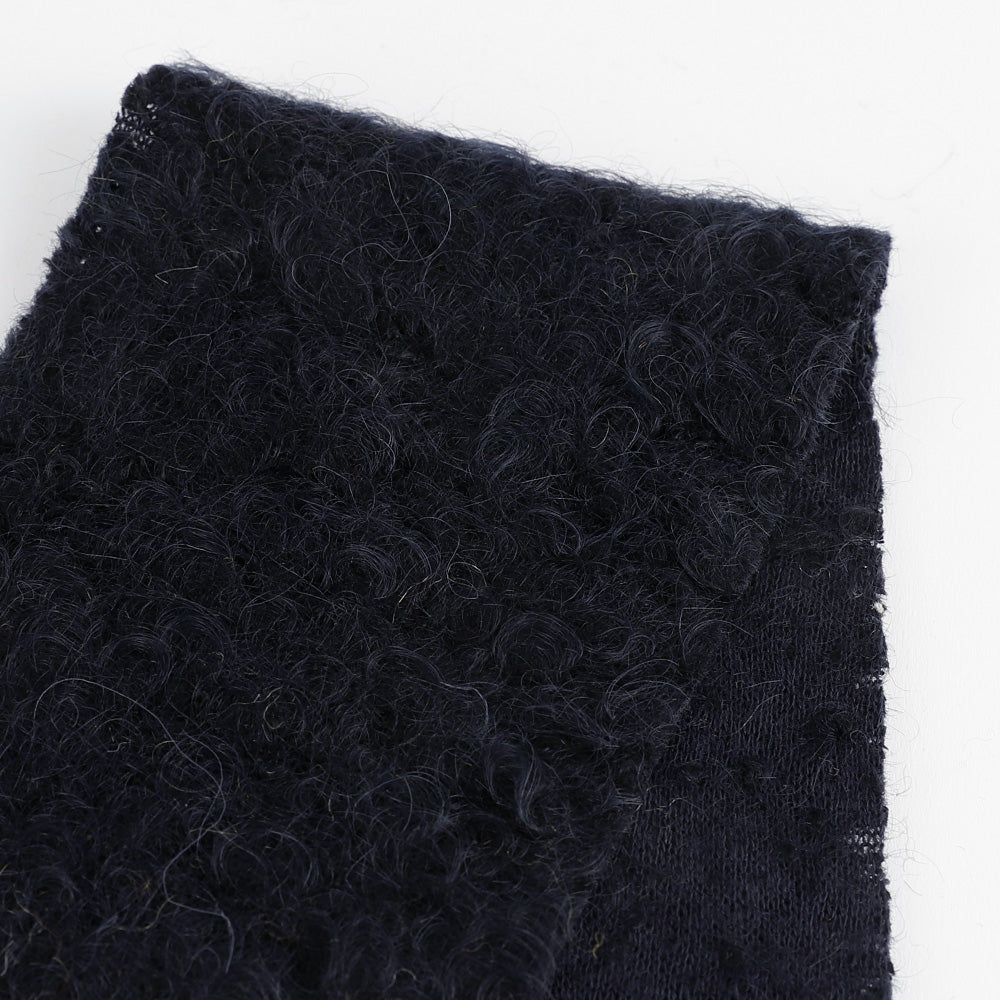 Japanese Boucle Wool Knit - Navy