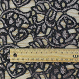 Guipure Lace Black Bronze buy at The Fabric Store Online