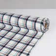 Brushed Cotton Twill Plaid - Blue / Salmon