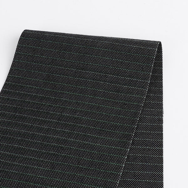 Chalk Stripe Suiting - Midnight / Spruce - buy online at The Fabric Store