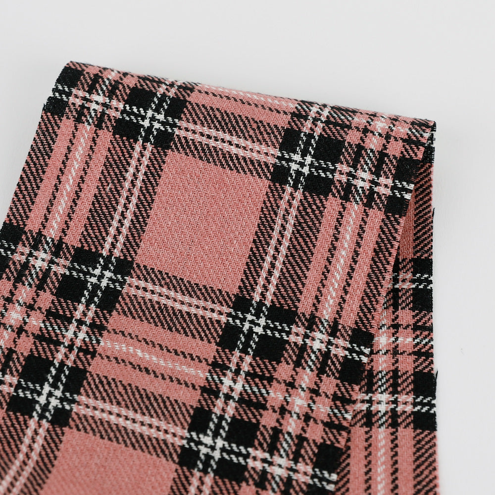 Plaid Twill Linen - Pink