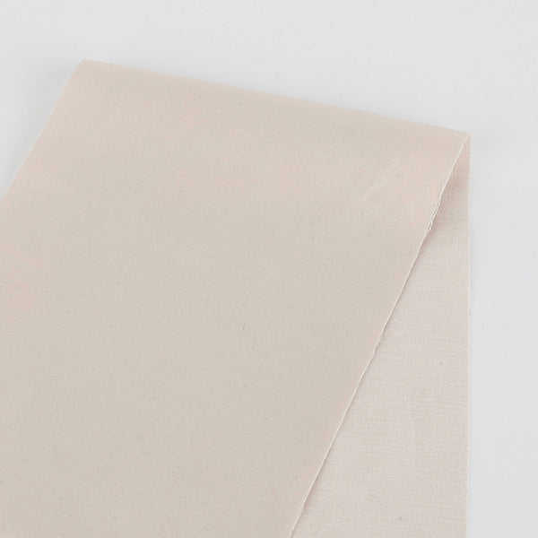 Cotton Blend Stretch Sateen - Oyster