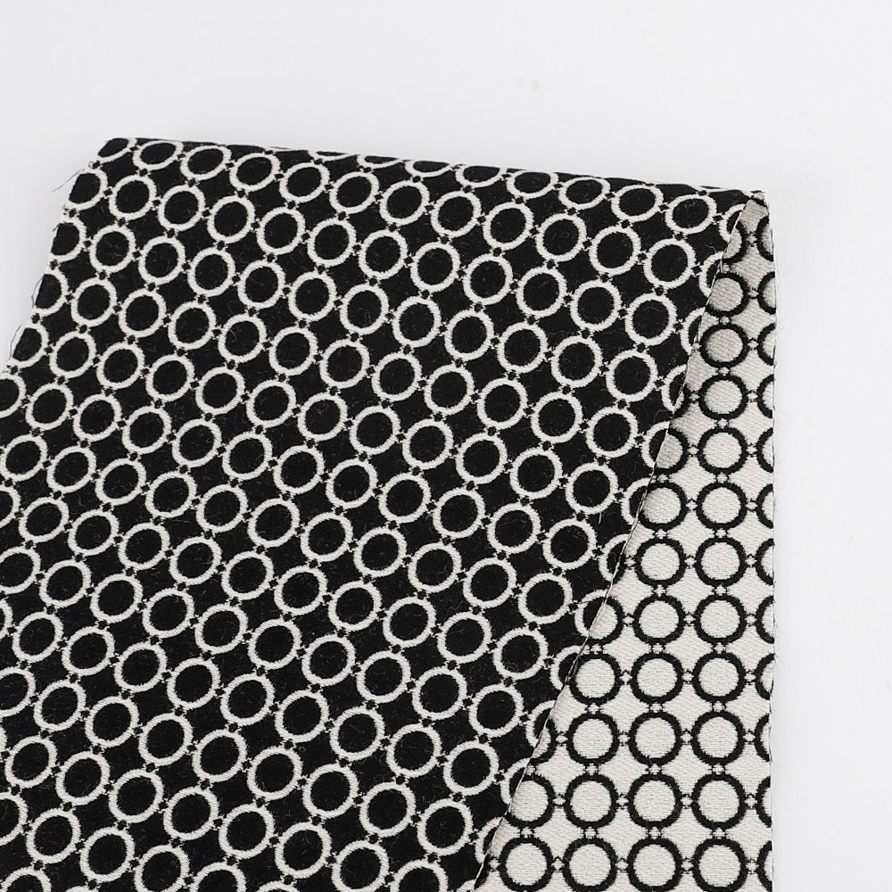 Silk / Cotton Circle Jacquard - Monochrome