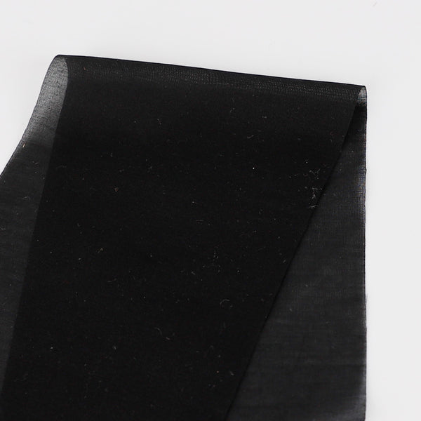 Cotton / Silk Voile - Black
