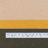 Cotton / Silk Wide Stripe Jacquard - Gold - buy online at The Fabric Store