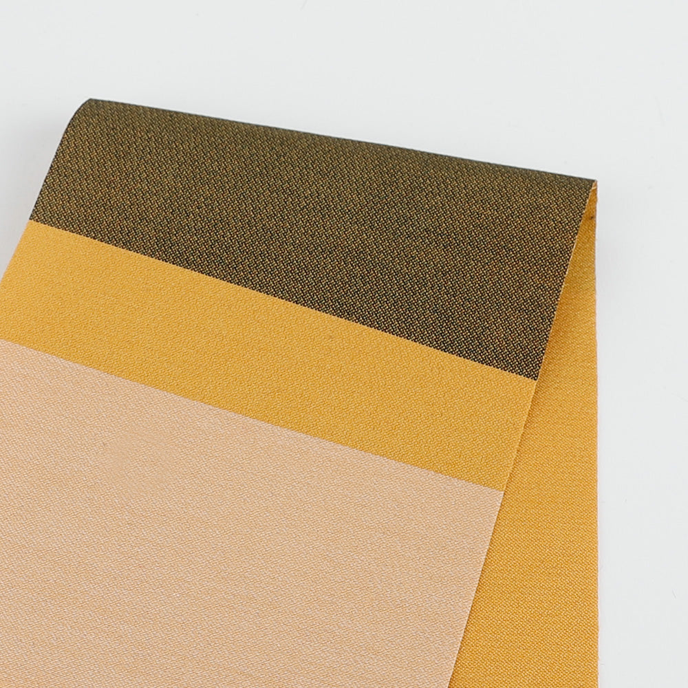 Cotton / Silk Wide Stripe Jacquard - Gold