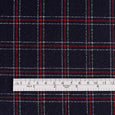 Japanese Check Wool Crepe - Navy / Red - buy online at The Fabric Store