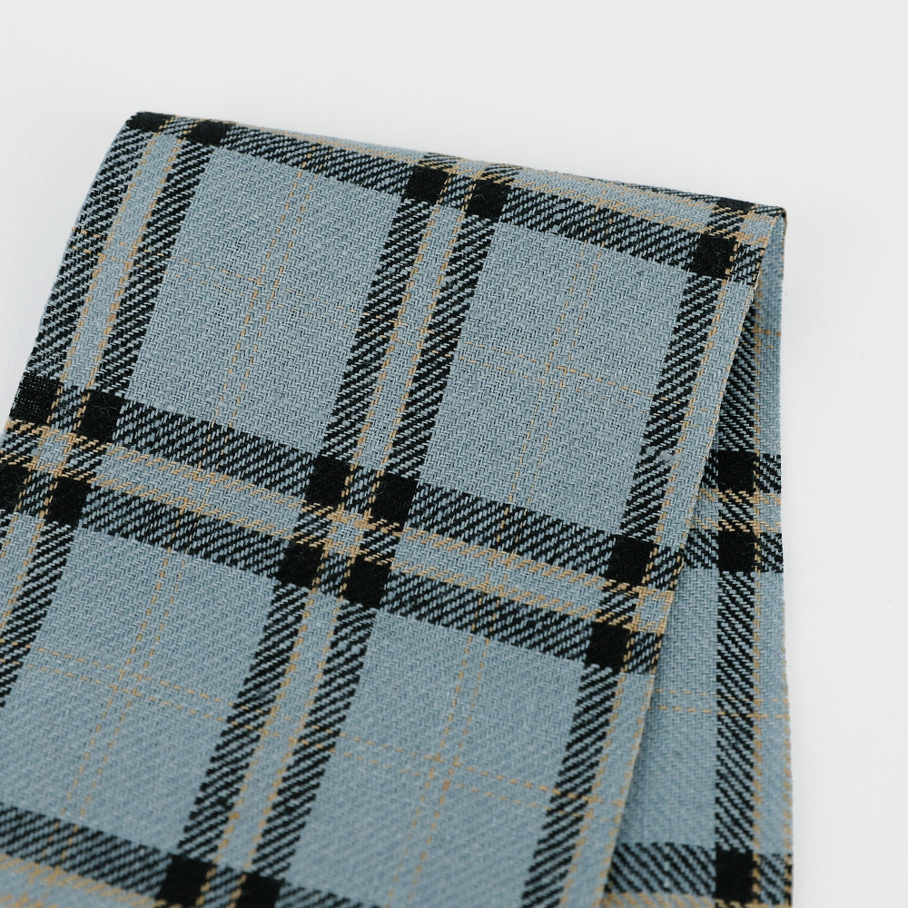 Plaid Twill Linen - Blue