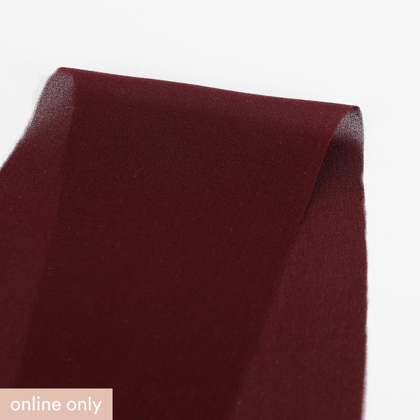 Silk Double Georgette - Burgundy