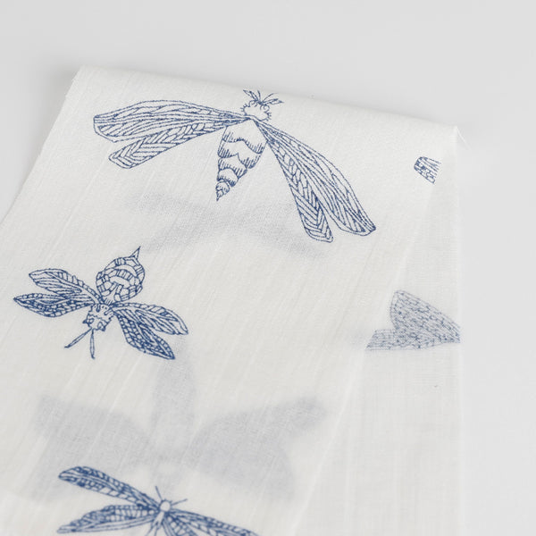 Dragonfly Cotton Muslin - Blue