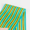 Drawn Stripe Stretch Silk - Turquoise / Yellow