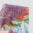 Tropical Flower Silk Georgette - Flamingo
