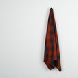 Hazy Brushed Cotton Plaid - Russet / Navy