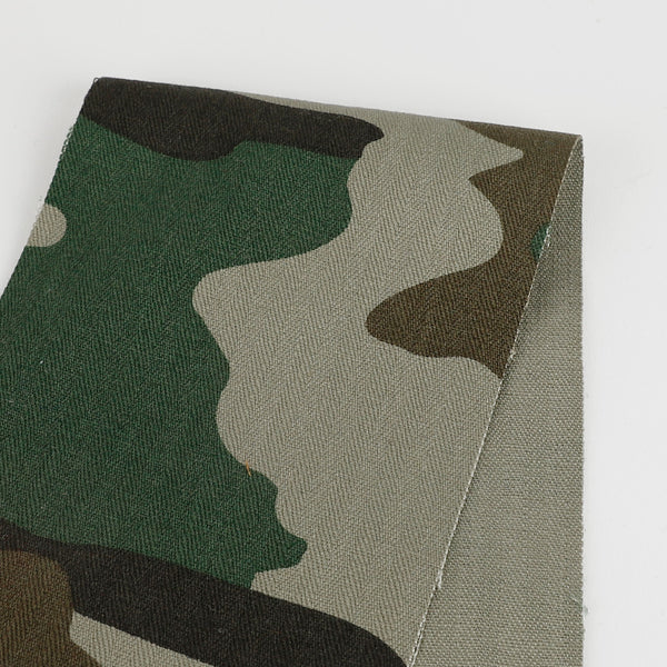 Heavyweight Camo Print Cotton - Green