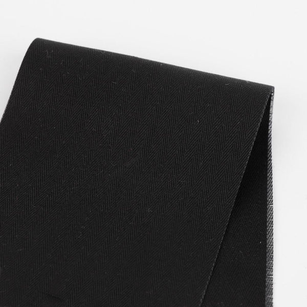 Heavyweight Cotton Herringbone - Black - buy online at The fabric Store