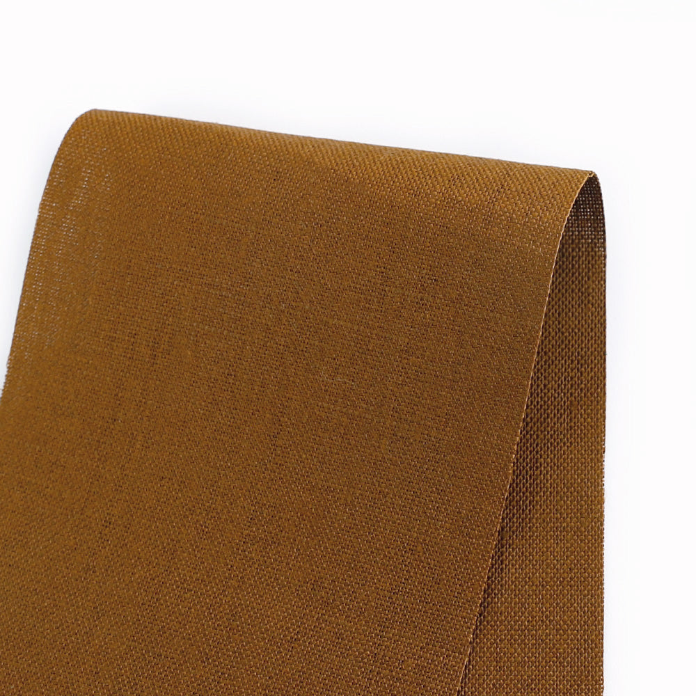 Heavyweight Linen - Ochre - buy online at The Fabric Store