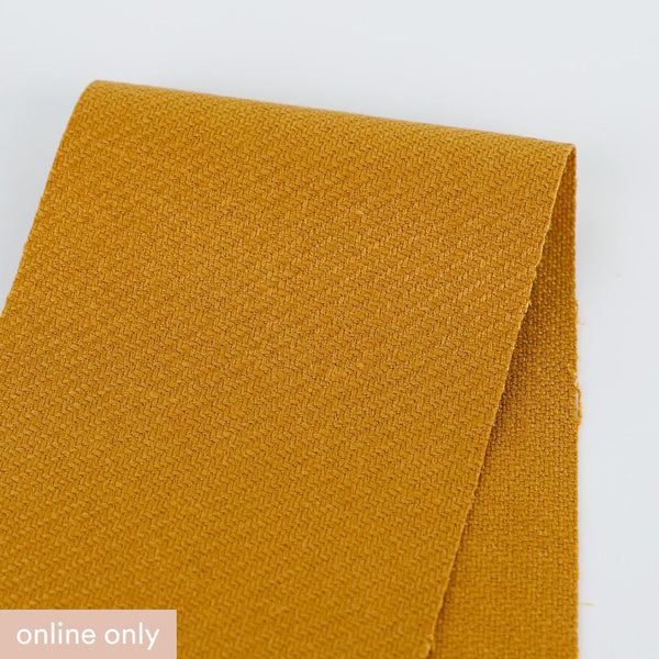 Heavyweight Bias Herringbone Linen - Saffron