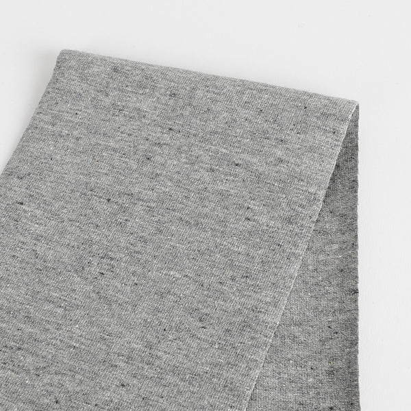 Heavyweight Stretch Cotton Jersey - Ash Marle