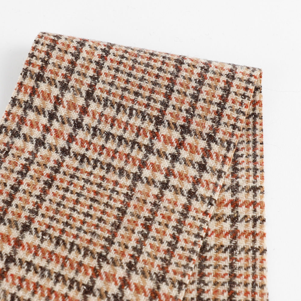Japanese Glen Check Wool - Brown