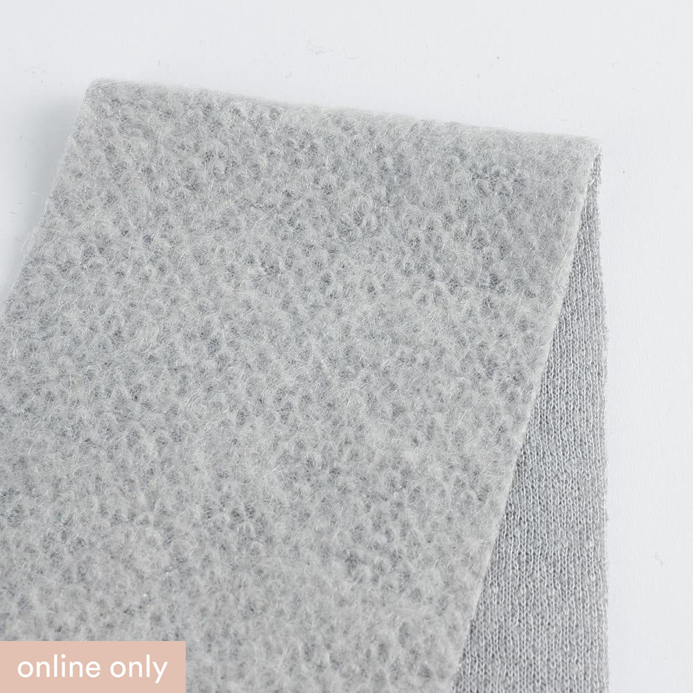 Japanese Honeycomb Wool Knit - Pebble