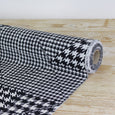 Houndstooth Patchwork Stretch Silk Crepe De Chine - buy online at The Fabric Store