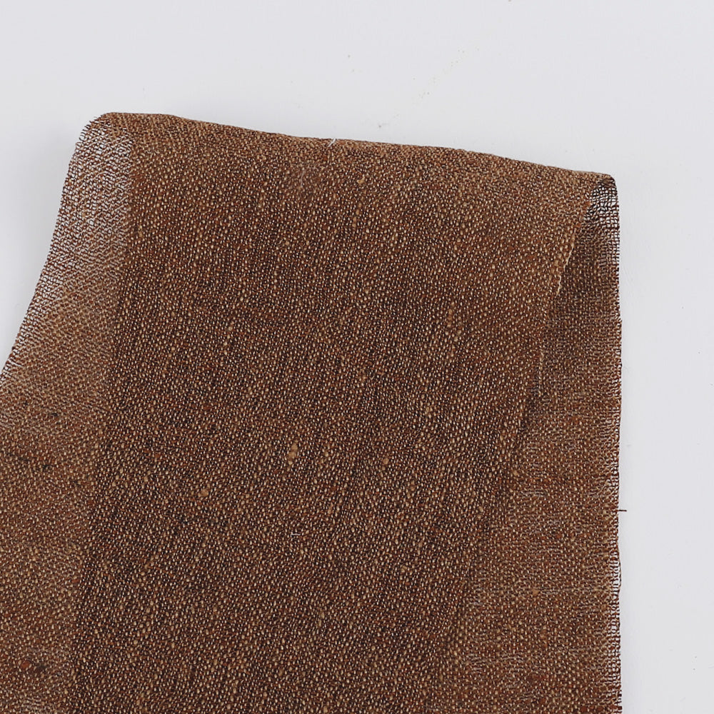 Italian Linen Blend Gauze - Chestnut - Buy online at The Fabric Store