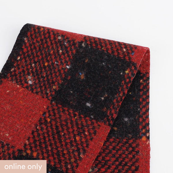 Japanese Check Tweed - Red