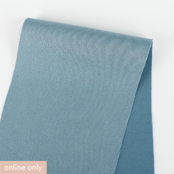 Japanese Satin Backed Crepe - Dusty Turquoise