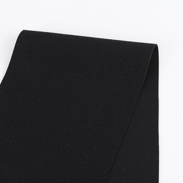 Japanese Twill Ponte Knit - Black