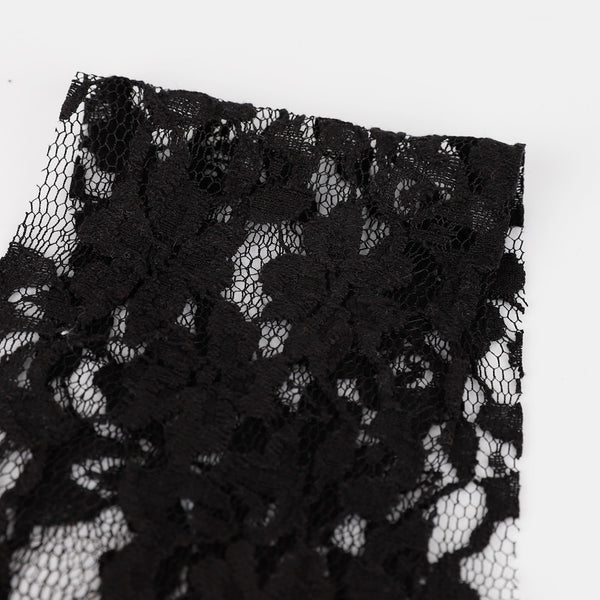 Related product : Cotton / Nylon Floral Lace - Black