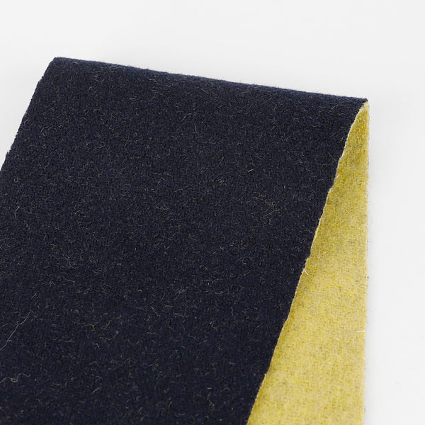 Japanese Reversible Wool Blend Coating - Navy / Lemongrass