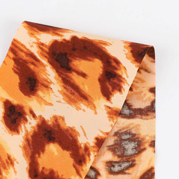 Leopard Print Cotton Twill - Spice
