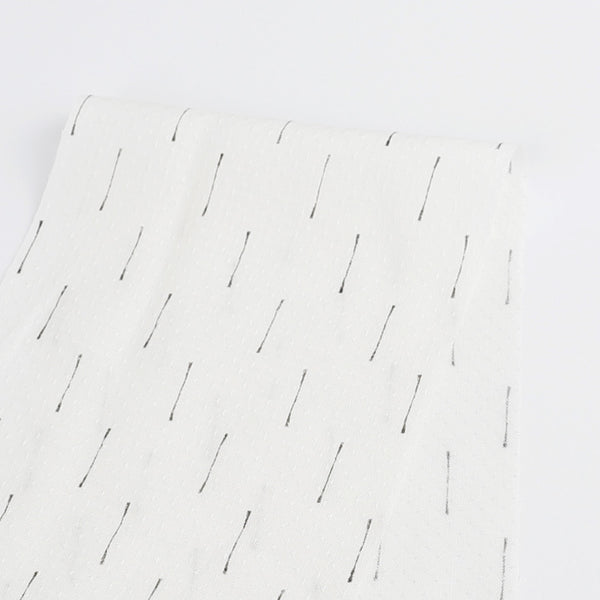 Line Print Viscose - White - buy online at The Fabric Store