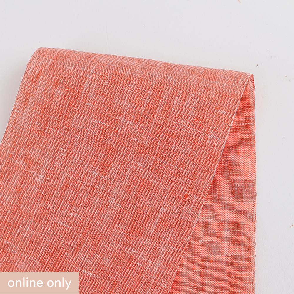 Linen Chambray - Tamarillo - buy online at The Fabric Store