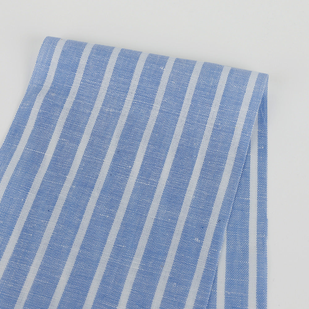 Shirt Stripe Linen / Cotton - Blue / White