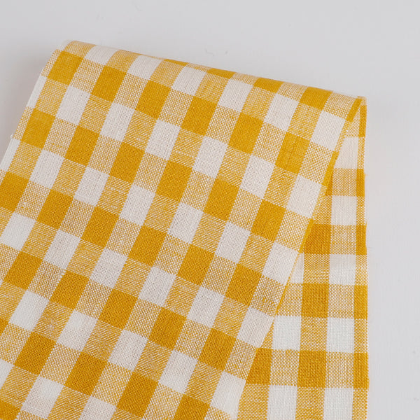 Gingham Linen - Canary